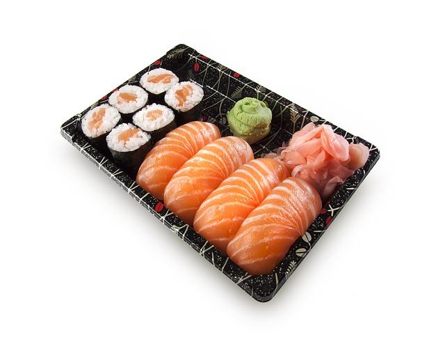 sushi a wasabi